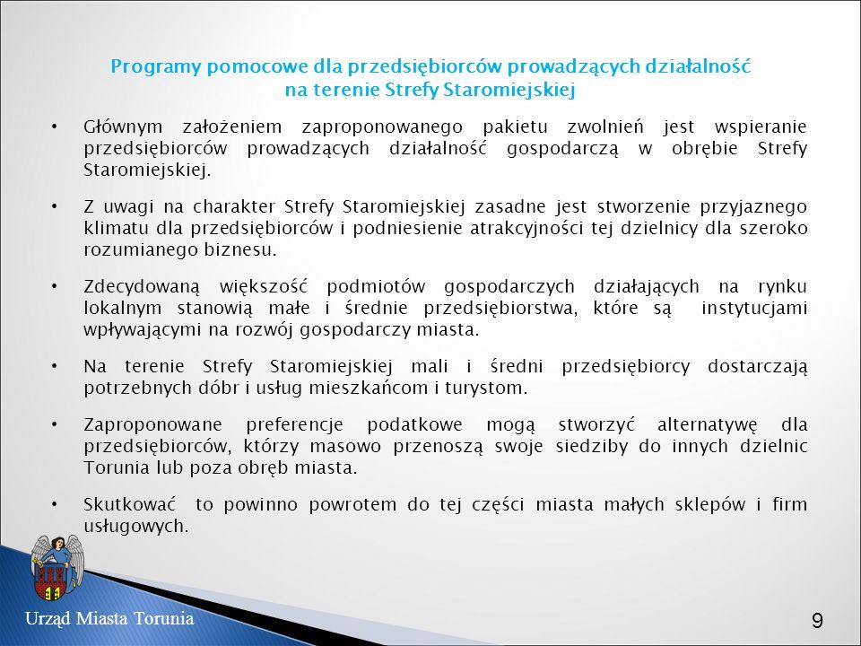 Programy pomocowe dla przedsiębiorców prowadzących działalność na terenie Strefy Staromiejskiej