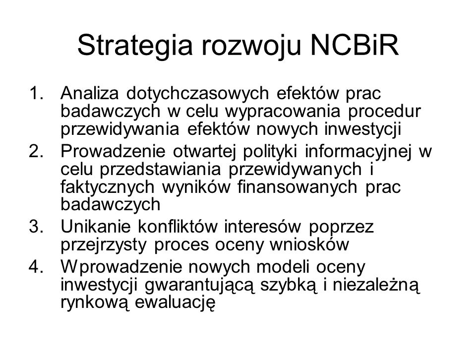 Strategia rozwoju NCBiR