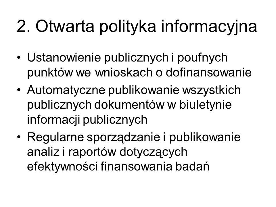 2. Otwarta polityka informacyjna