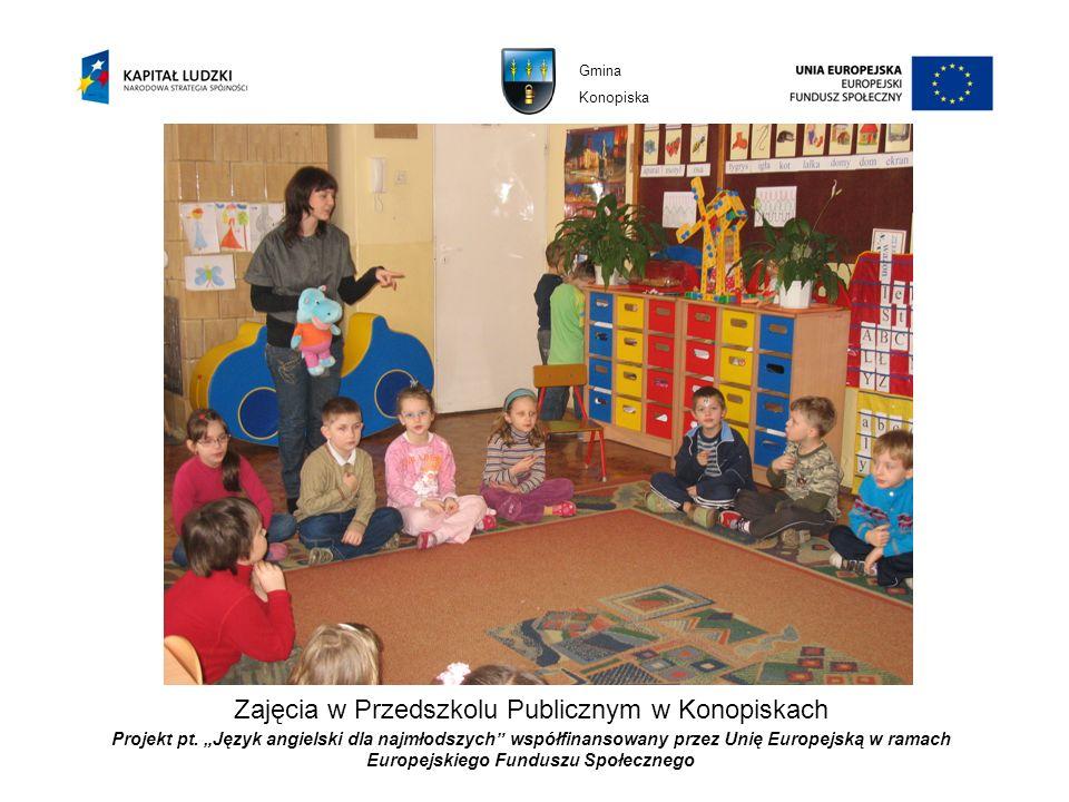 Zajęcia w Przedszkolu Publicznym w Konopiskach