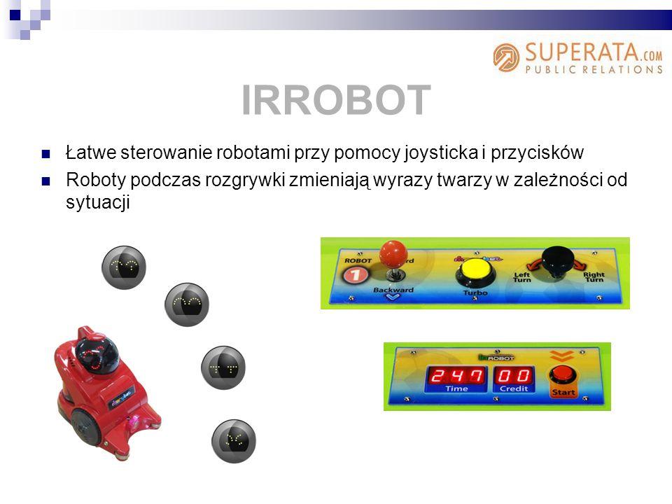 IRROBOT Łatwe sterowanie robotami przy pomocy joysticka i przycisków