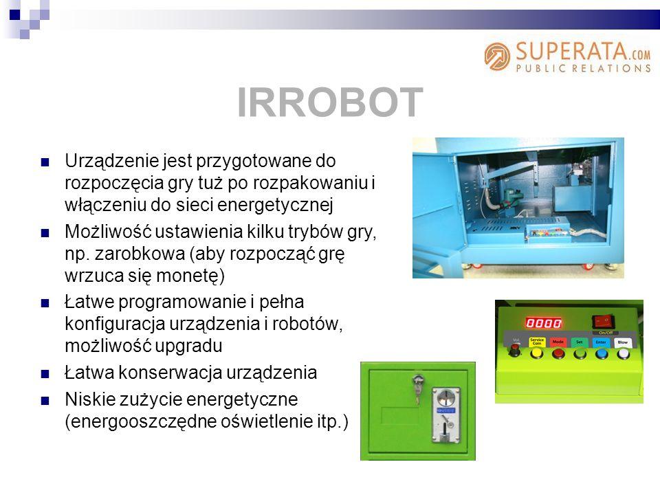 IRROBOT Urządzenie jest przygotowane do rozpoczęcia gry tuż po rozpakowaniu i włączeniu do sieci energetycznej.