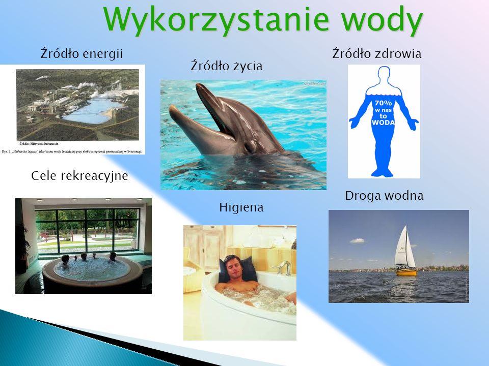 Wykorzystanie wody Źródło energii Źródło zdrowia Źródło życia