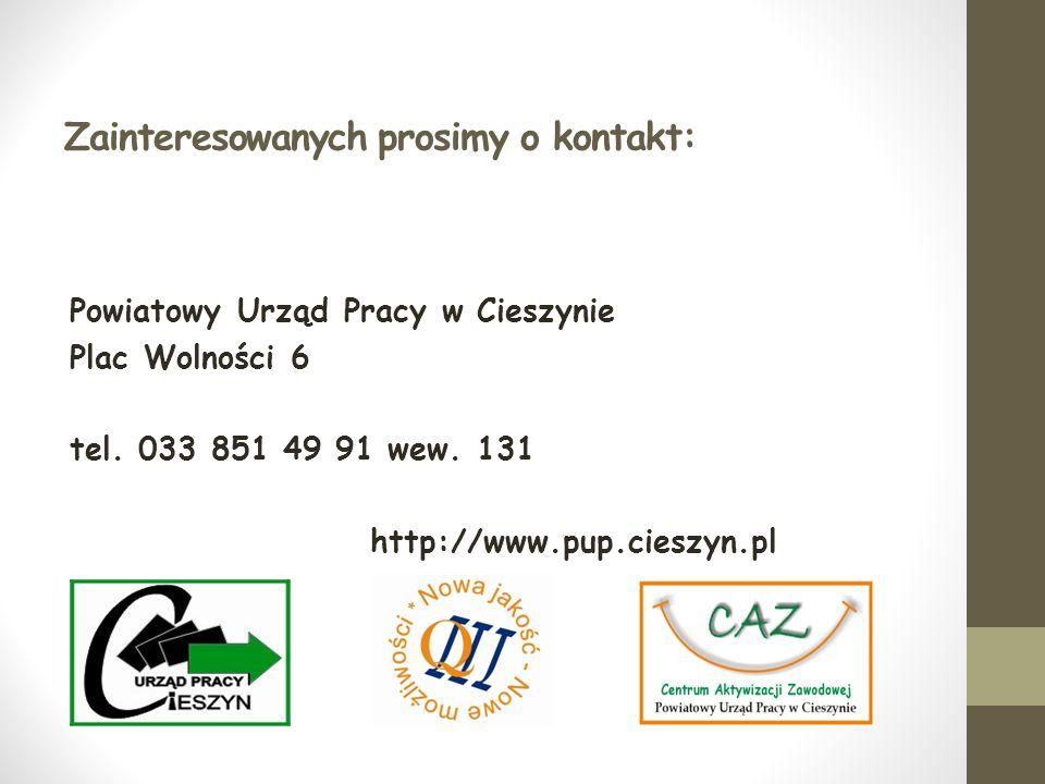Zainteresowanych prosimy o kontakt: