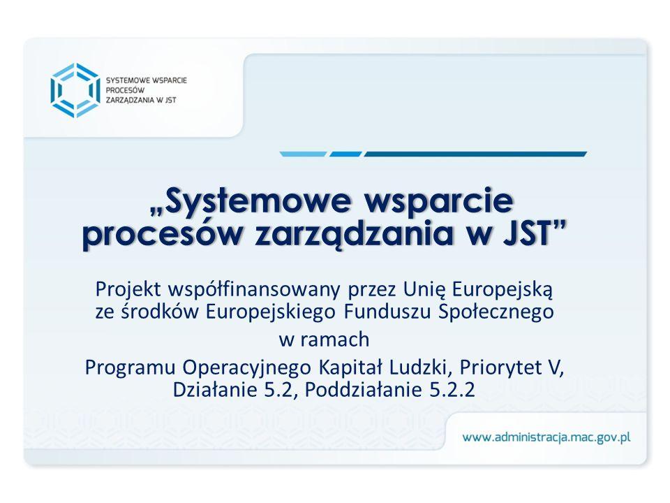 """""""Systemowe wsparcie procesów zarządzania w JST"""