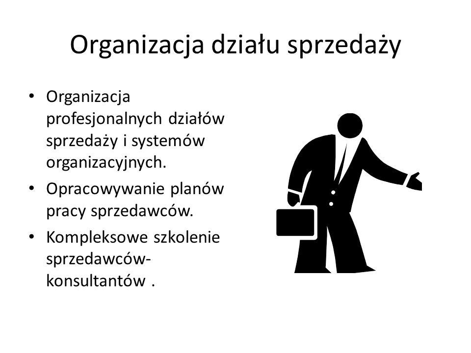 Organizacja działu sprzedaży