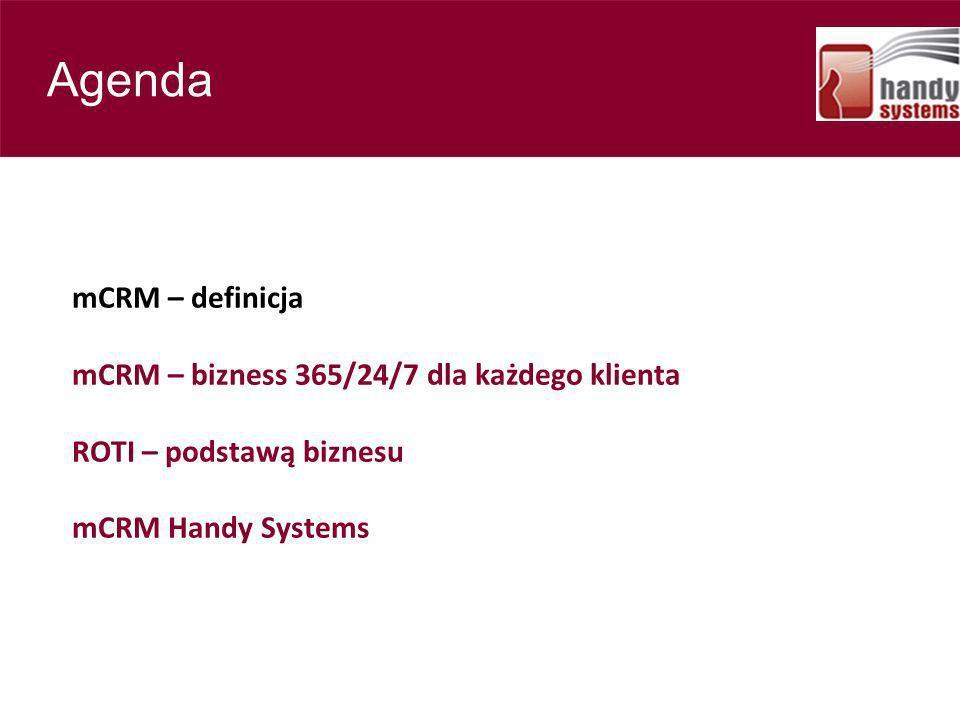 Contents Agenda mCRM – definicja