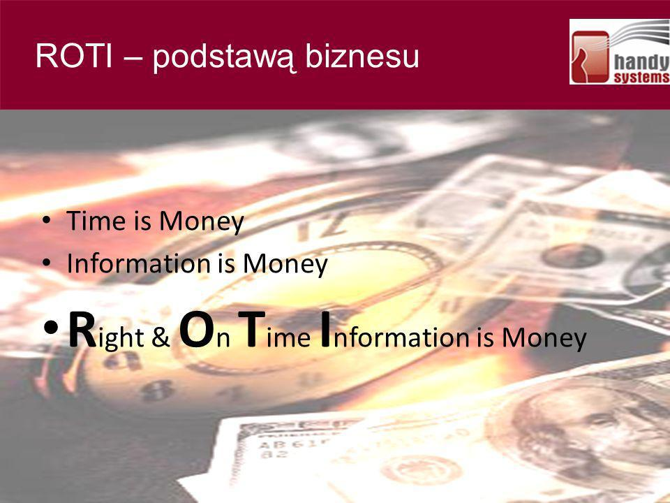 Right & On Time Information is Money