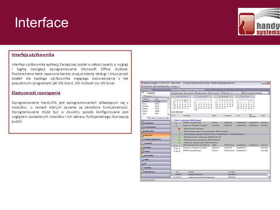 Interface 23 Interfejs użytkownika Elastyczność rozwiązania