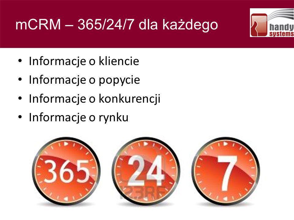 Contents mCRM – 365/24/7 dla każdego Informacje o kliencie