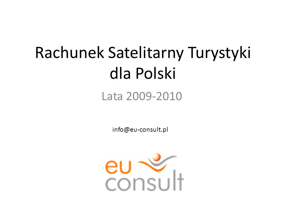 Rachunek Satelitarny Turystyki dla Polski