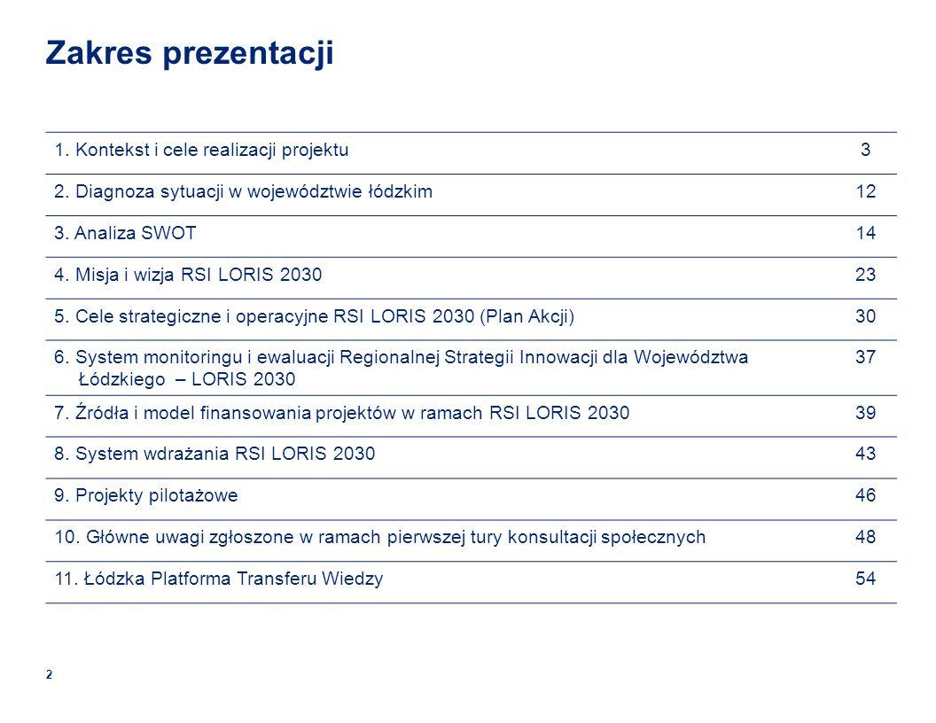 Zakres prezentacji 1. Kontekst i cele realizacji projektu 3