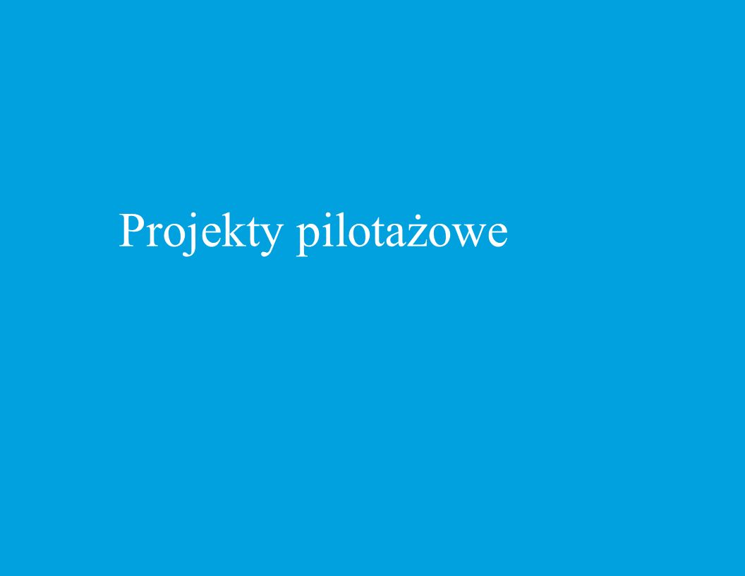 Projekty pilotażowe