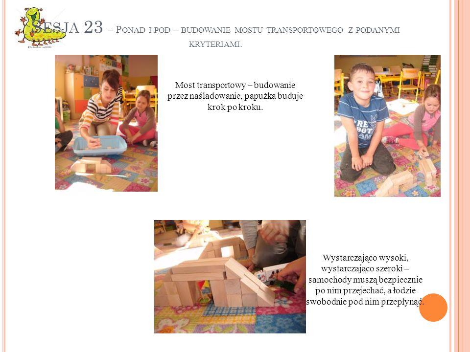 Sesja 23 – Ponad i pod – budowanie mostu transportowego z podanymi kryteriami.