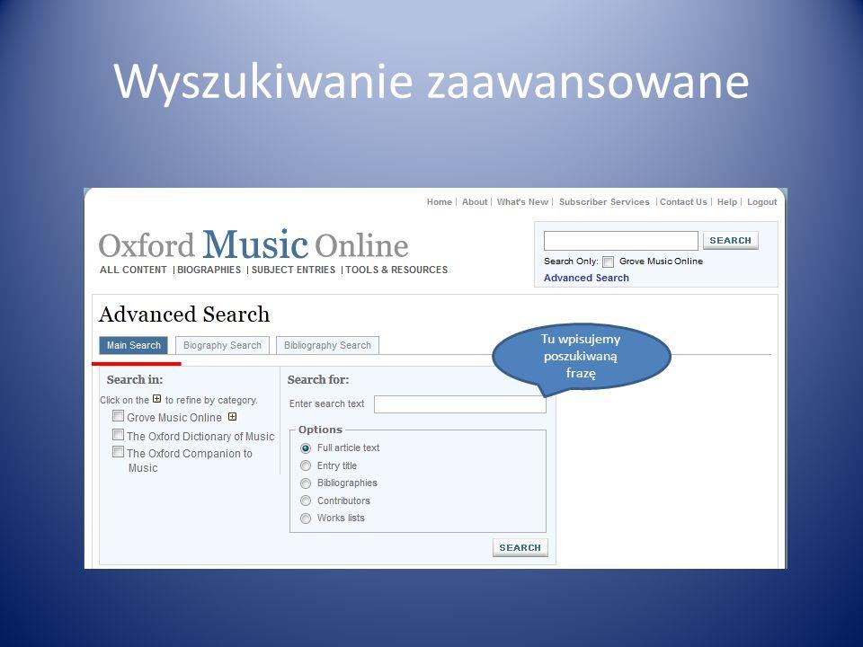 Wyszukiwanie zaawansowane