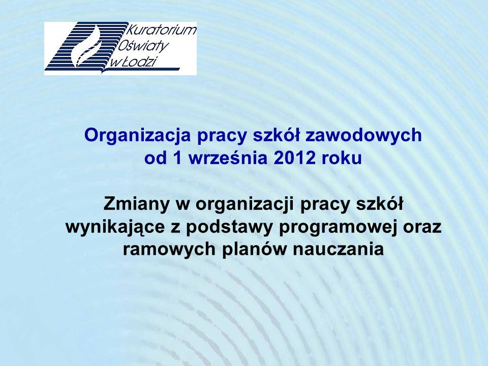 Organizacja pracy szkół zawodowych