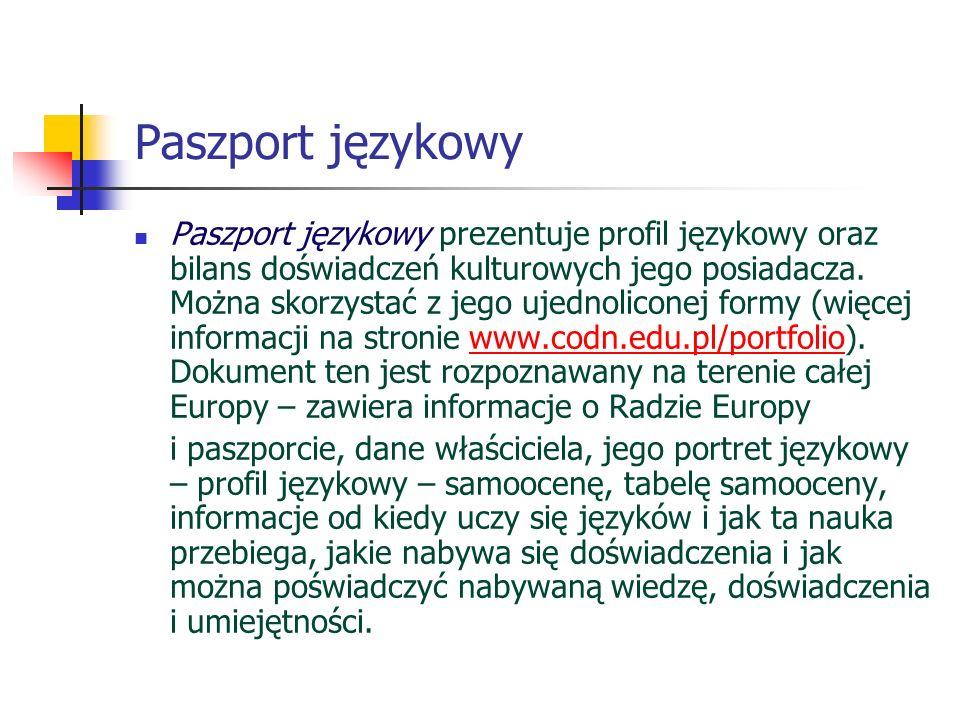 Paszport językowy