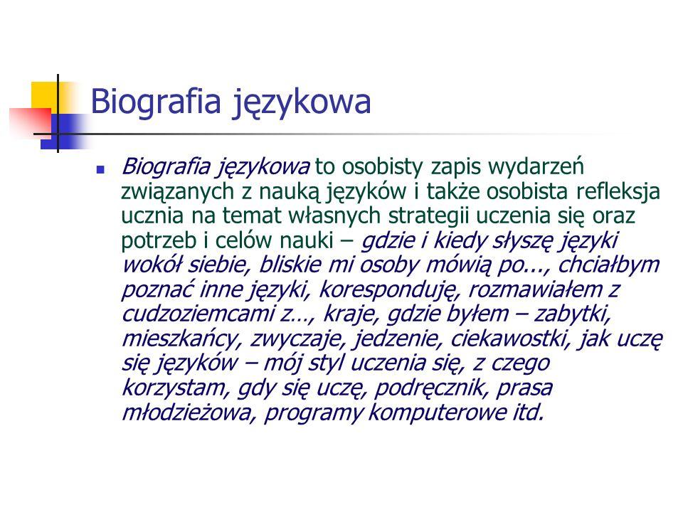 Biografia językowa