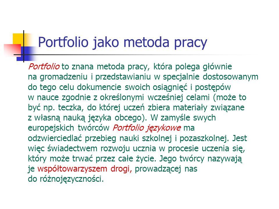 Portfolio jako metoda pracy