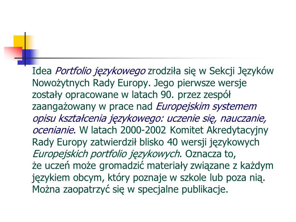 Idea Portfolio językowego zrodziła się w Sekcji Języków