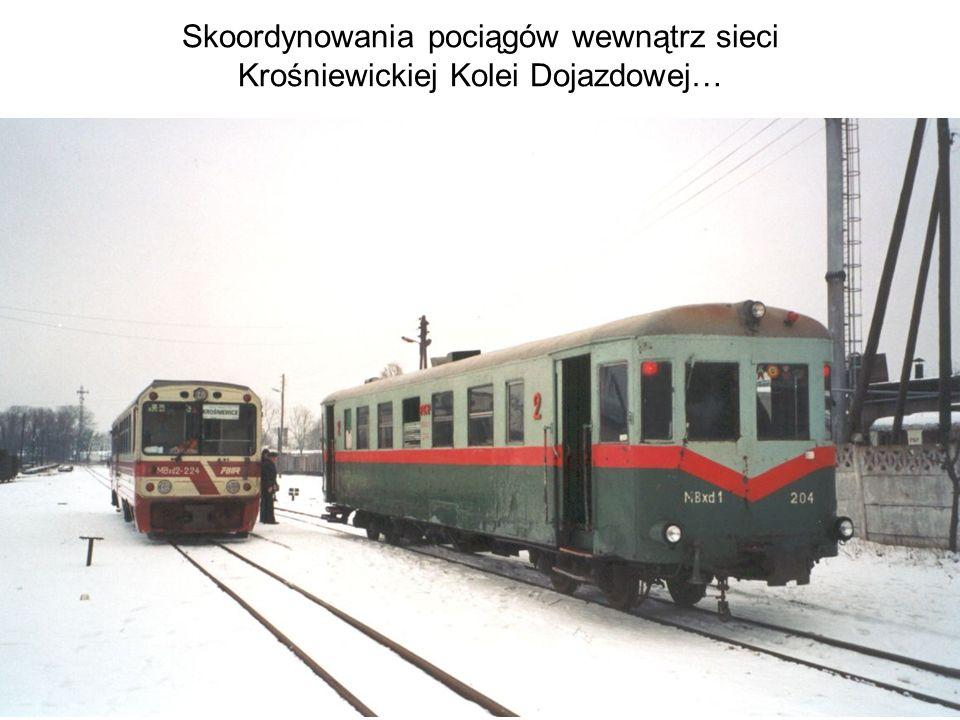 Skoordynowania pociągów wewnątrz sieci Krośniewickiej Kolei Dojazdowej…