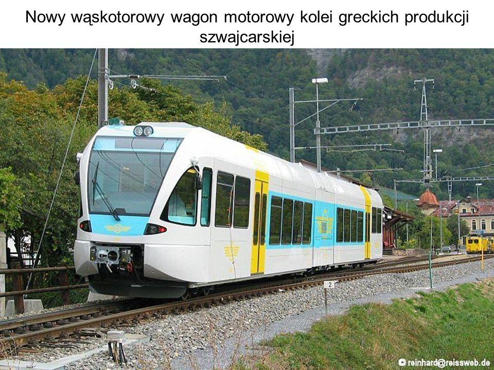 Nowy wąskotorowy wagon motorowy kolei greckich produkcji szwajcarskiej
