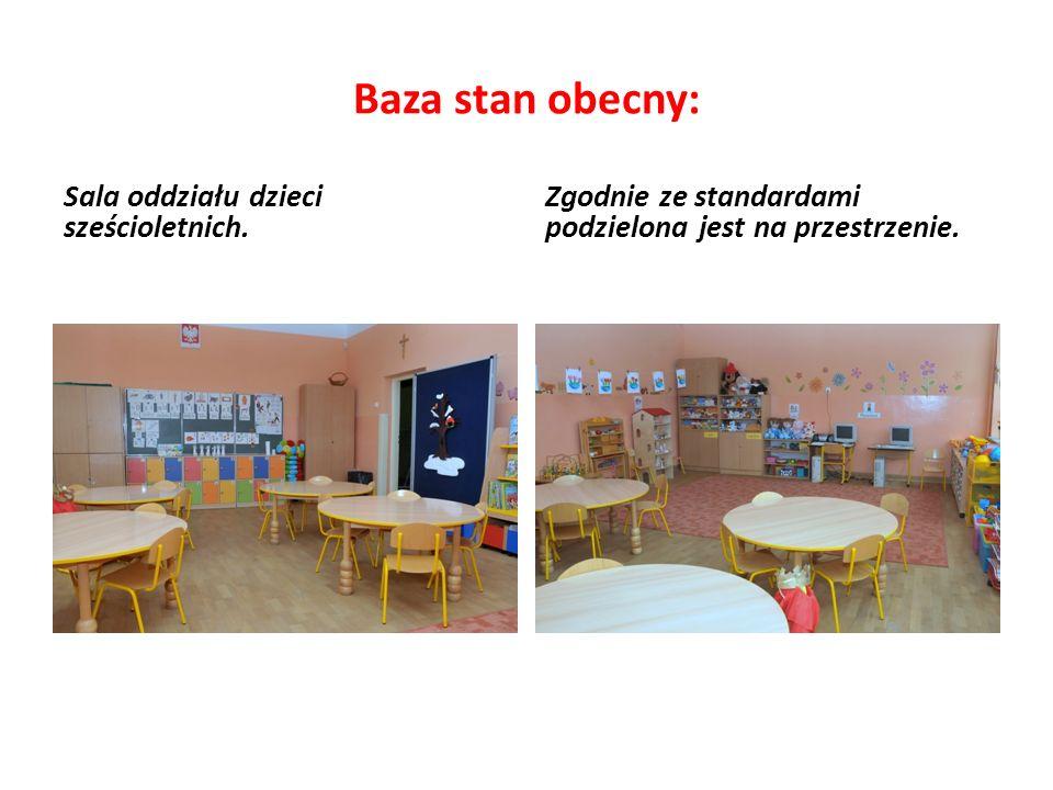 Baza stan obecny: Sala oddziału dzieci sześcioletnich.