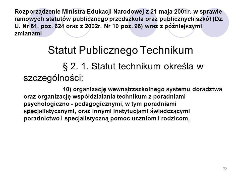 Statut Publicznego Technikum