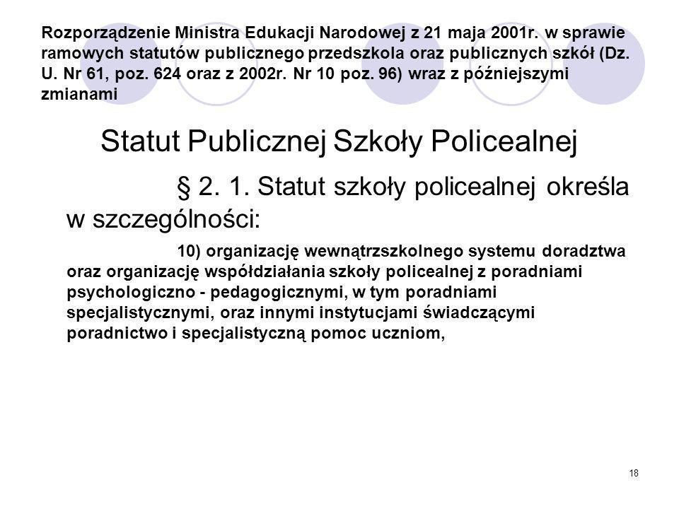 Statut Publicznej Szkoły Policealnej