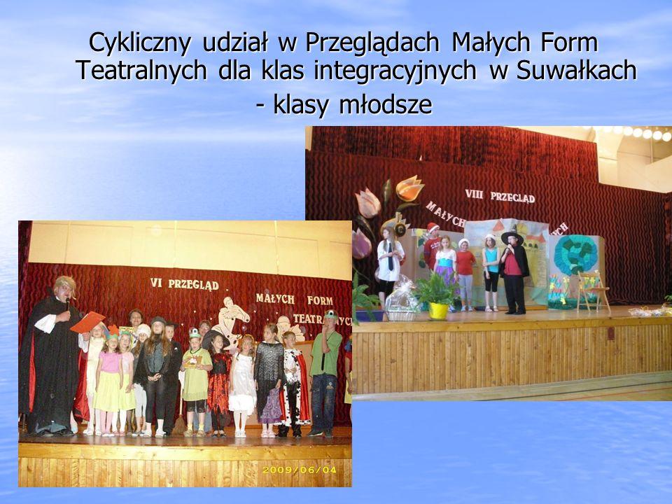 Cykliczny udział w Przeglądach Małych Form Teatralnych dla klas integracyjnych w Suwałkach
