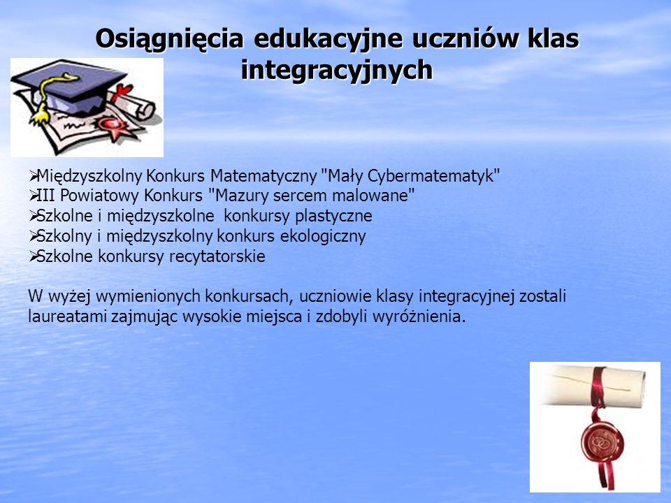 Osiągnięcia edukacyjne uczniów klas integracyjnych