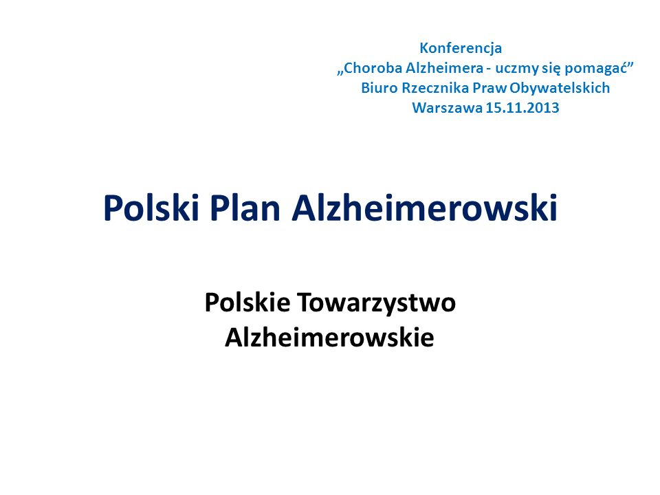 Polski Plan Alzheimerowski