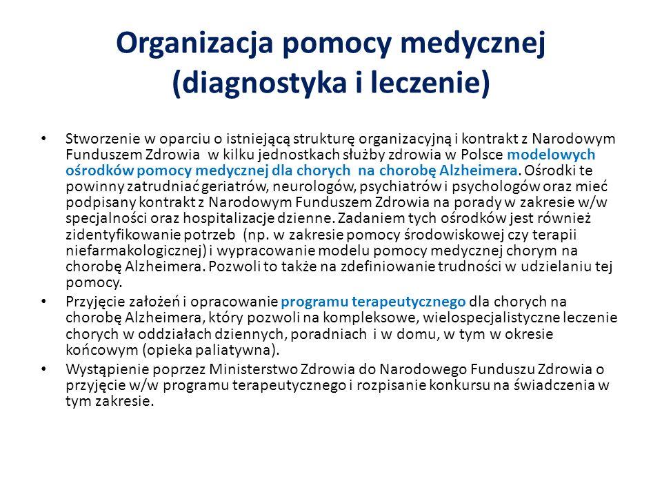 Organizacja pomocy medycznej (diagnostyka i leczenie)