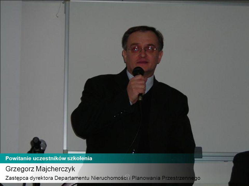 Grzegorz Majcherczyk Powitanie uczestników szkolenia
