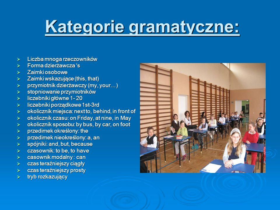 Kategorie gramatyczne: