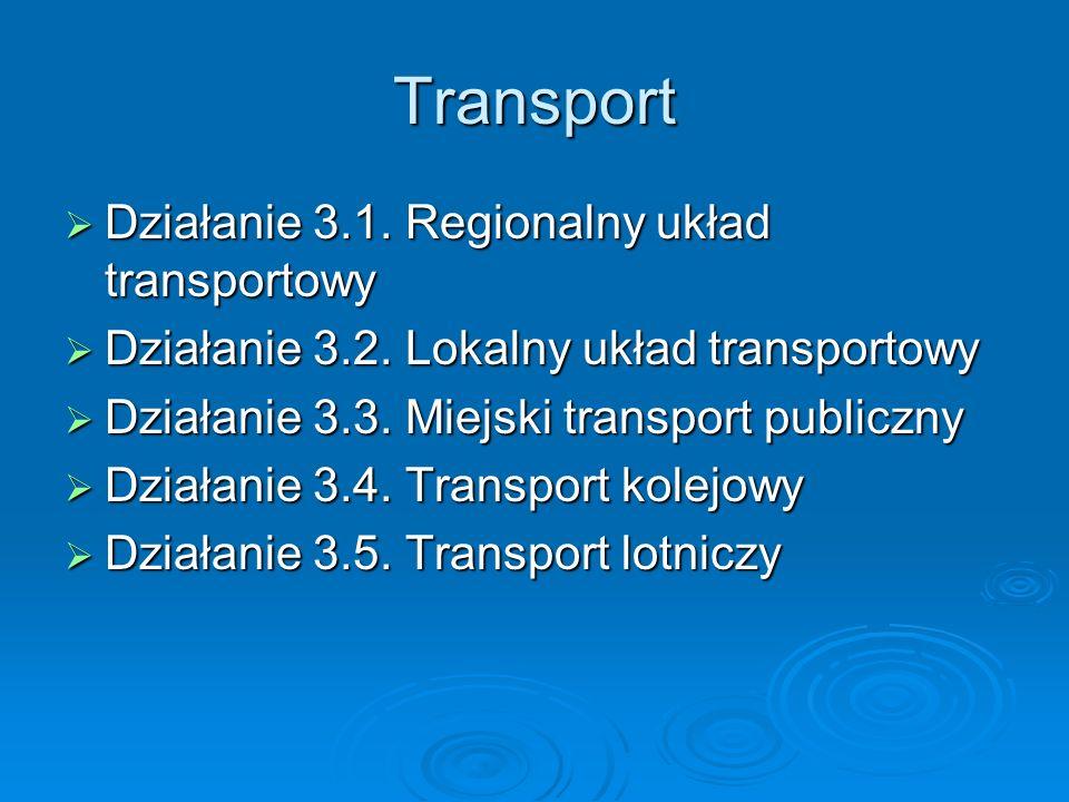 Transport Działanie 3.1. Regionalny układ transportowy