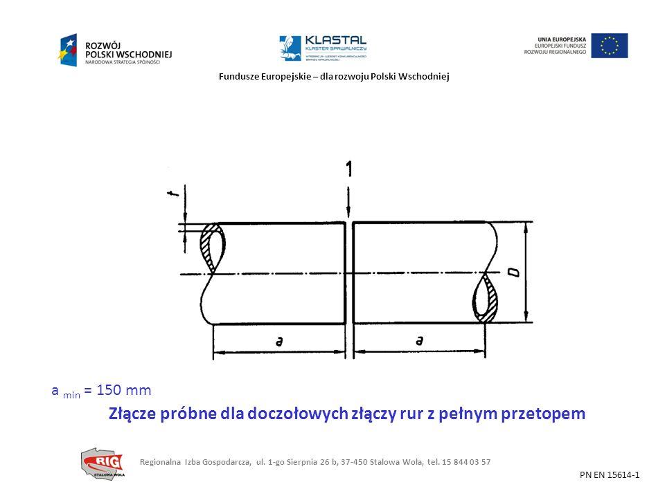 Złącze próbne dla doczołowych złączy rur z pełnym przetopem