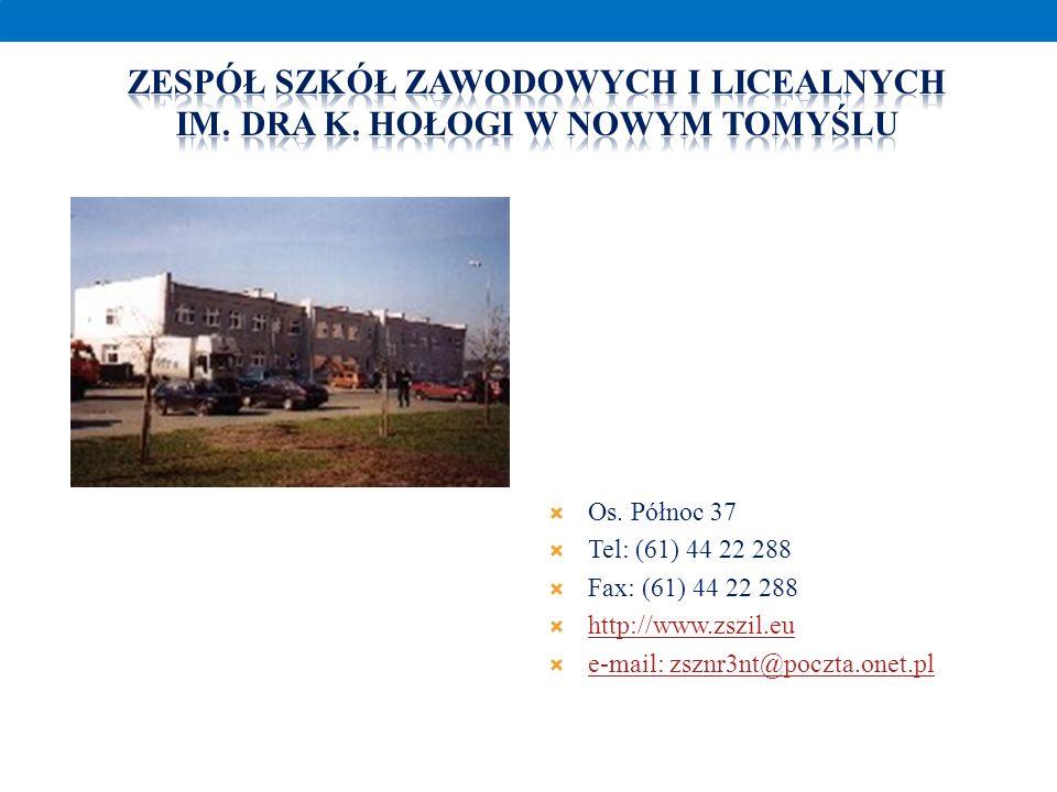 Zespół szkół zawodowych I licealnych Im. DRA K. Hołogi W Nowym Tomyślu