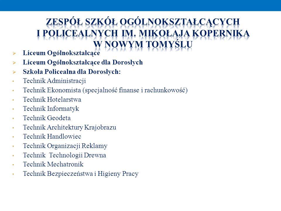 Zespół Szkół Ogólnokształcących i Policealnych im