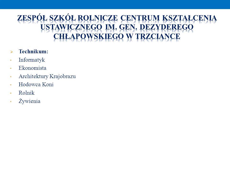 Zespół Szkół Rolnicze Centrum Kształcenia Ustawicznego im. Gen