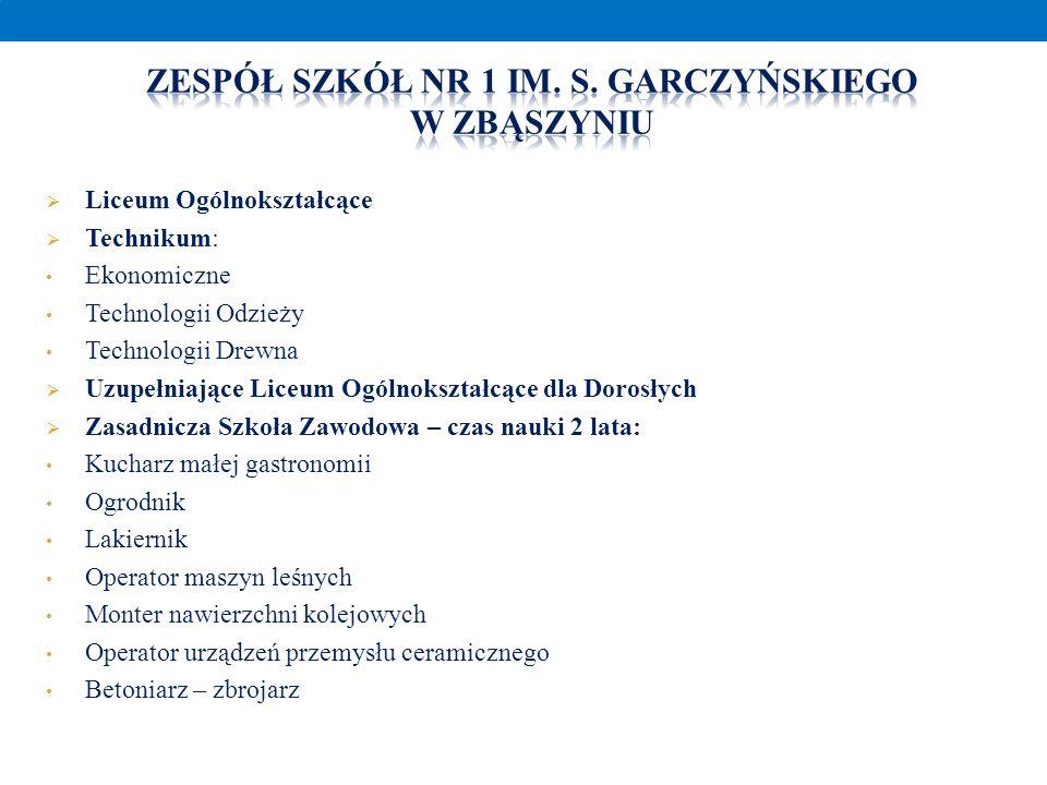 Zespół szkół nr 1 im. S. Garczyńskiego w Zbąszyniu