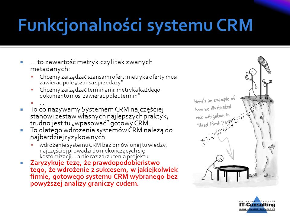 Funkcjonalności systemu CRM