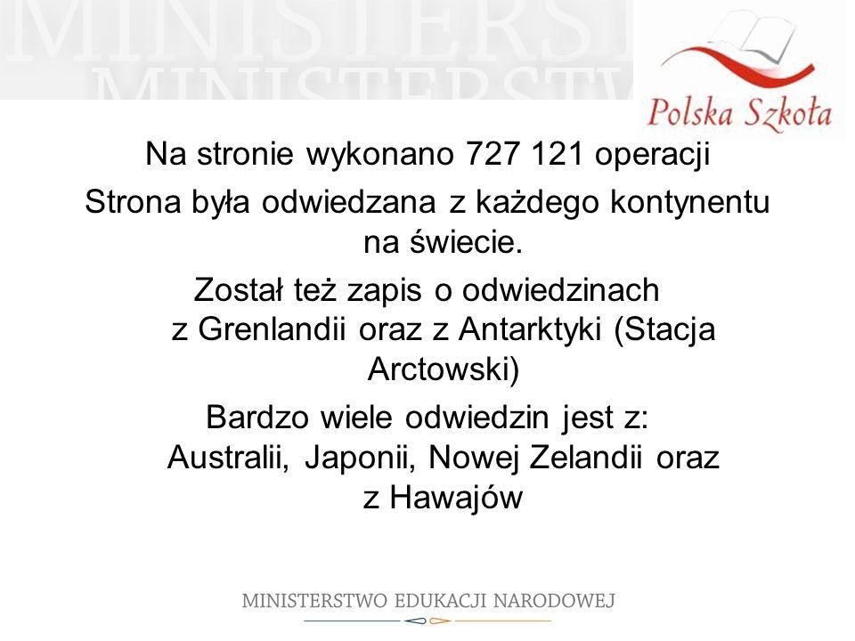 Na stronie wykonano 727 121 operacji Strona była odwiedzana z każdego kontynentu na świecie.