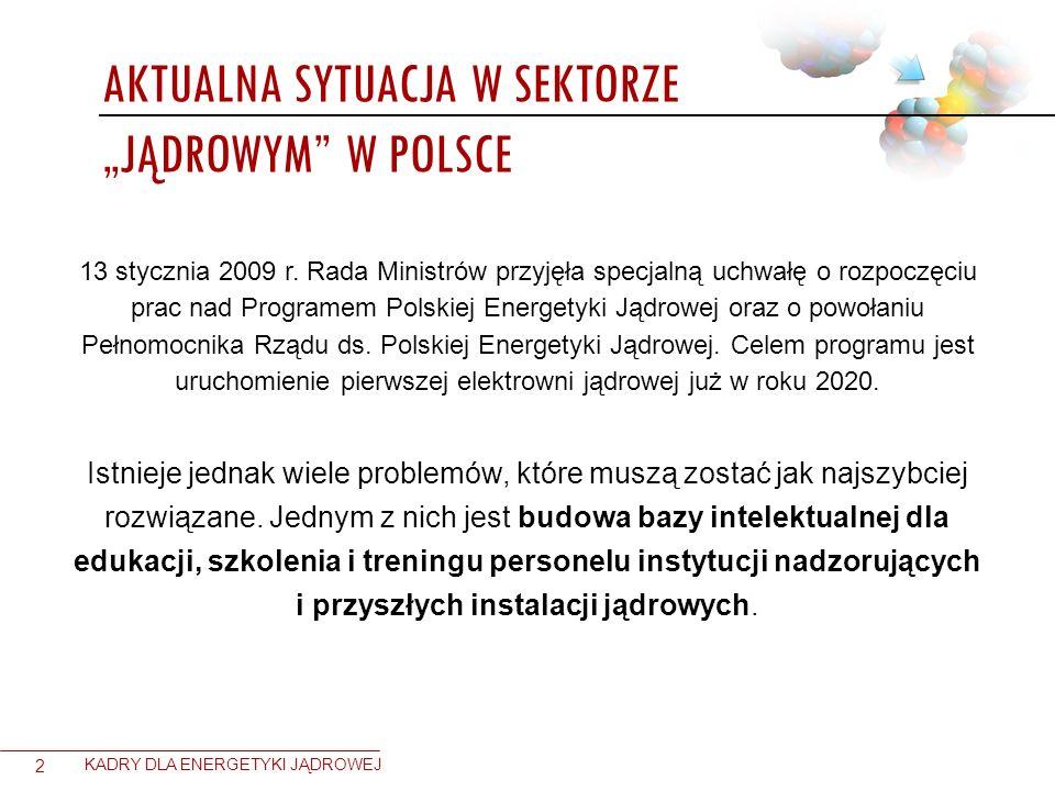 """Aktualna sytuacja w sektorze """"jądrowym w Polsce"""