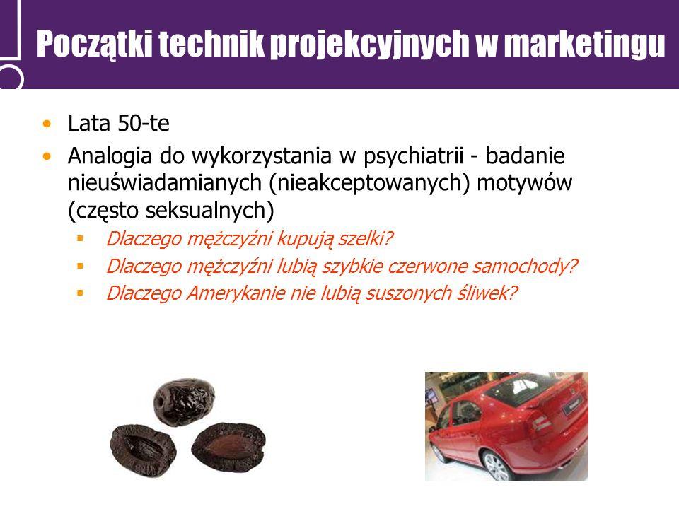 Początki technik projekcyjnych w marketingu