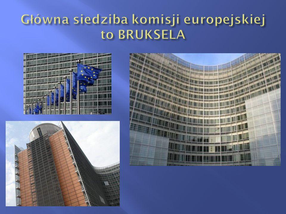 Główna siedziba komisji europejskiej to BRUKSELA