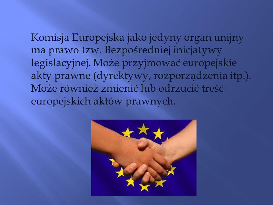 Komisja Europejska jako jedyny organ unijny ma prawo tzw