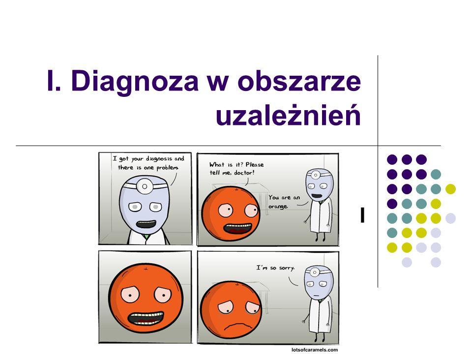 I. Diagnoza w obszarze uzależnień