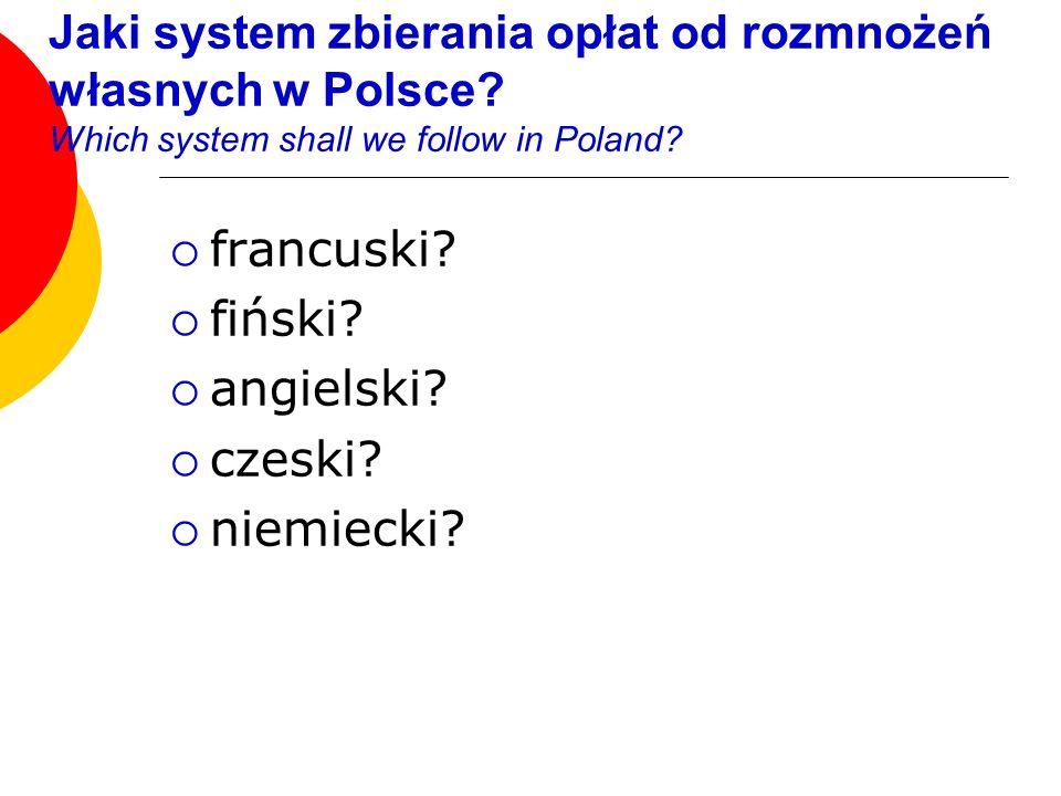 francuski fiński angielski czeski niemiecki