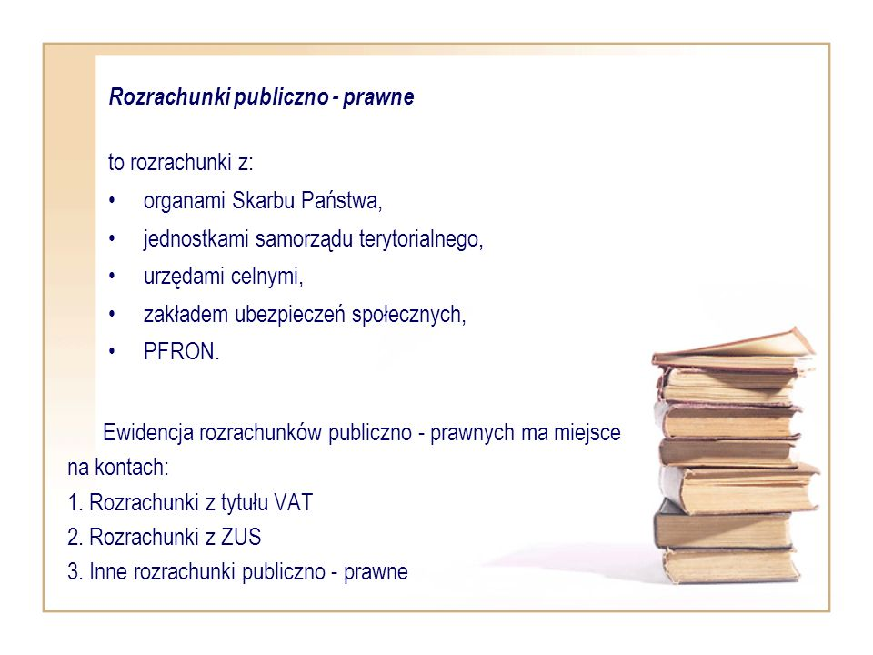Rozrachunki publiczno - prawne